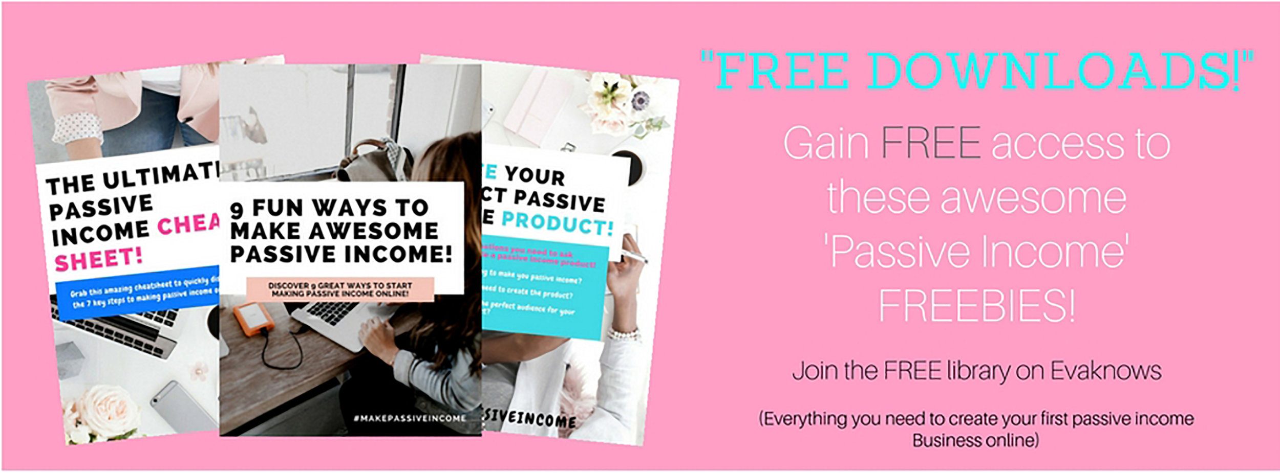 Gain access to the FREE Passive Income Resource Library | Passive Income | How to make money online | Gain access to the Free Resource Library
