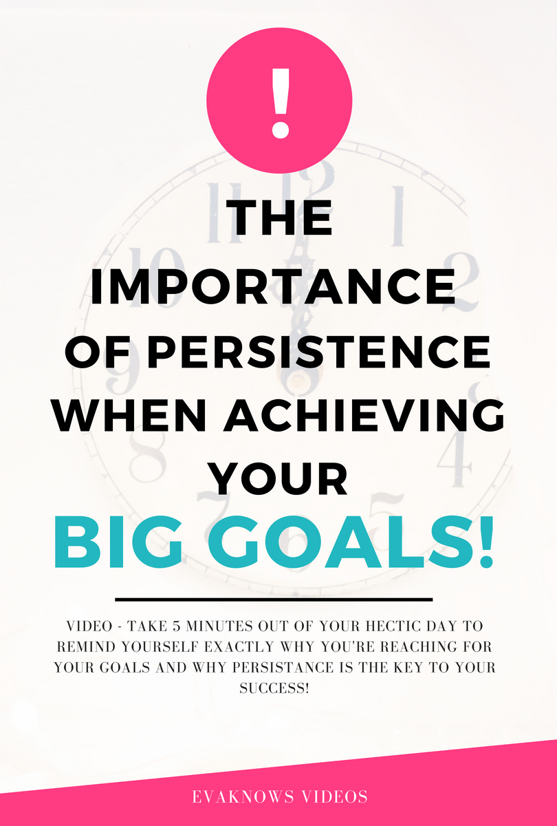 The Importance of Persistence when building passive income |  Passive Income | reaching your goals | achieving your goals | motivation | financial freedom | key to success