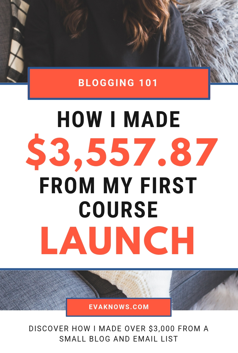 In this video I discuss how I made $3,557.87 from my first ecourse launch | Monetizing your blog | Blogging 101 | Blogging for beginners | Ecourse creation | How to make an ecourse | ecourse tips | Blog for beginners | Blog tools | Blogging tips | Blogging ideas
