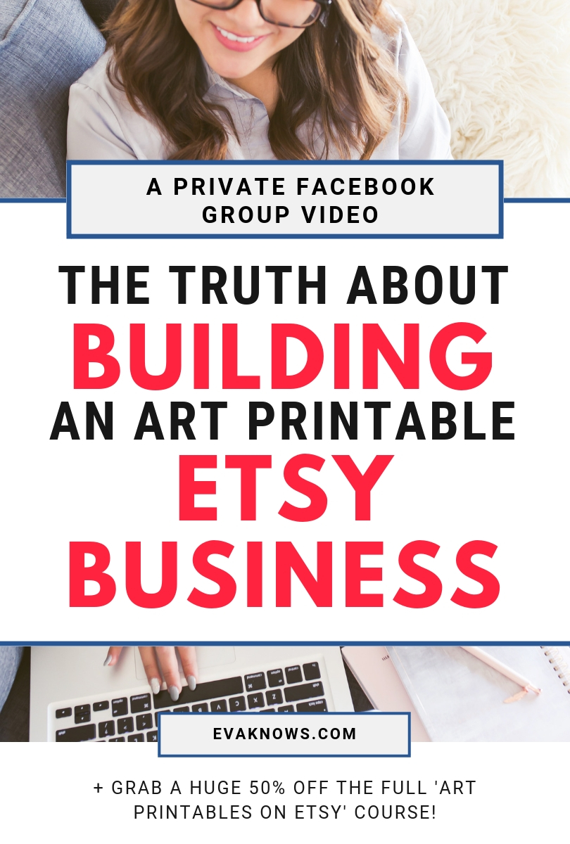 The truth about building an art printable etsy business | how to make money online | passive income | art printables | how to make money on etsy | passive income on etsy