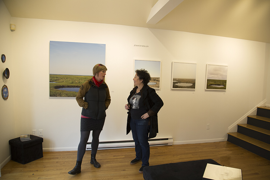 AMP Gallery, Malin Bengtsson with Debbie Nadolney, gallery owner