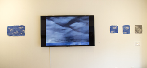 Video,  Razor's Edge , Jennifer Moller 2016 and Malin Bengtsson's Felt pieces at AMP Gallery