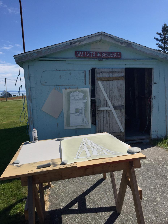 Drawings in Process - Baie Sainte-Marie, NS– 2018