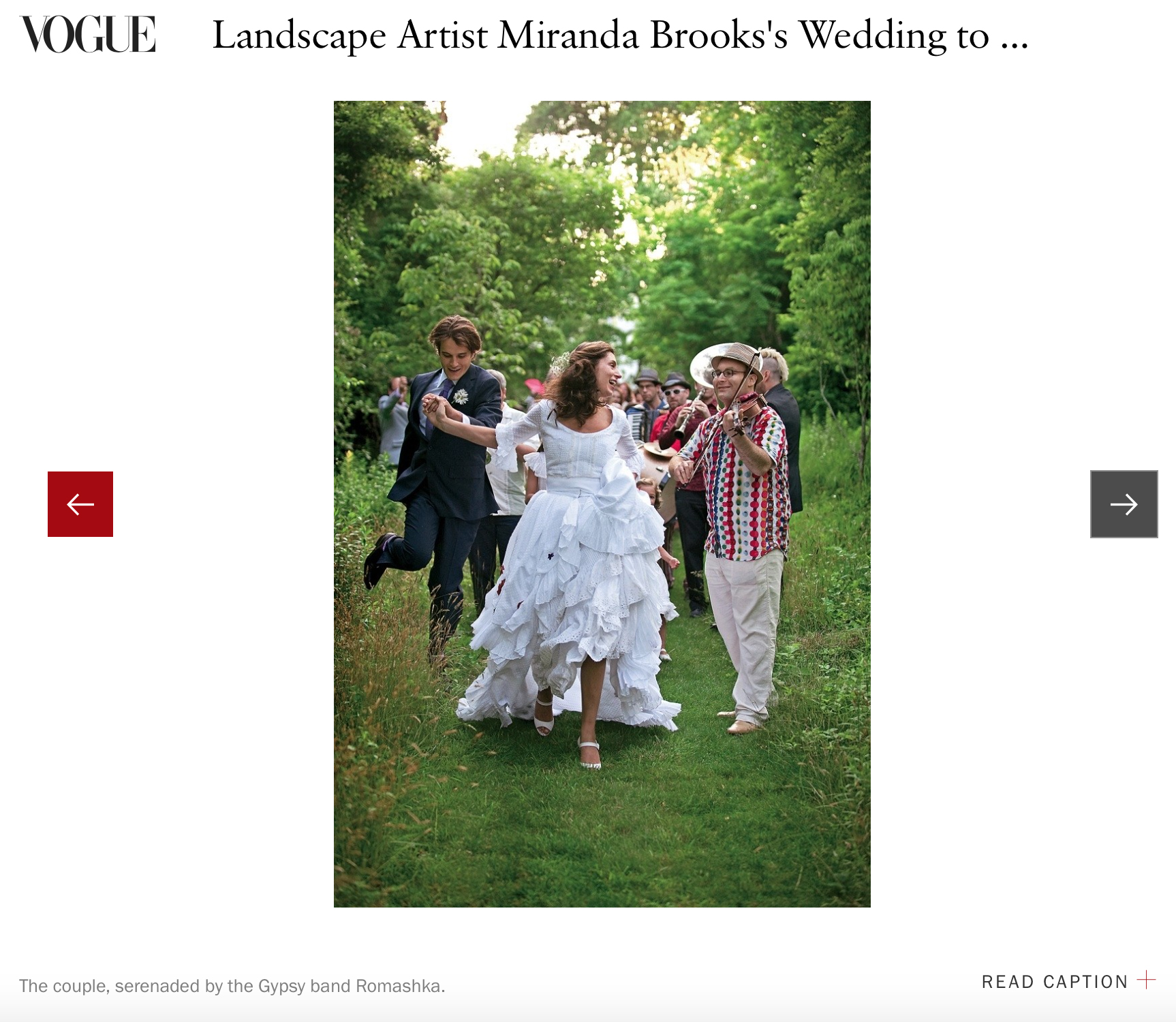 Miranda & Bastien - When Miranda Brooks married Bastien Halard at Anna Wintour's estate, we photographed it for Vogue. You can find that story here.