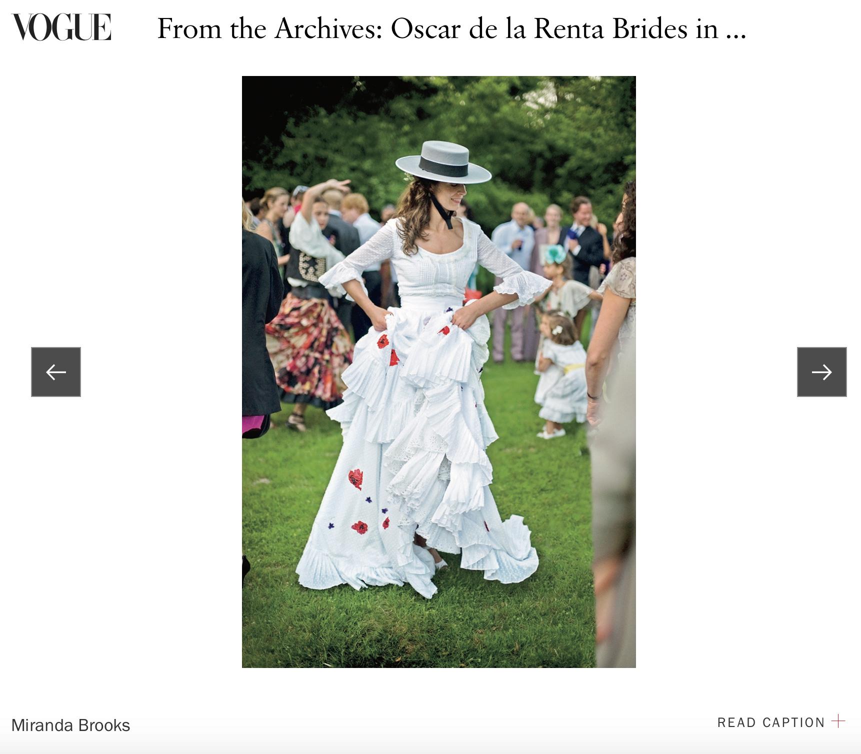 Miranda & Oscar - Our photos of Miranda Brooks wearing Oscar de la Renta appeared in the book