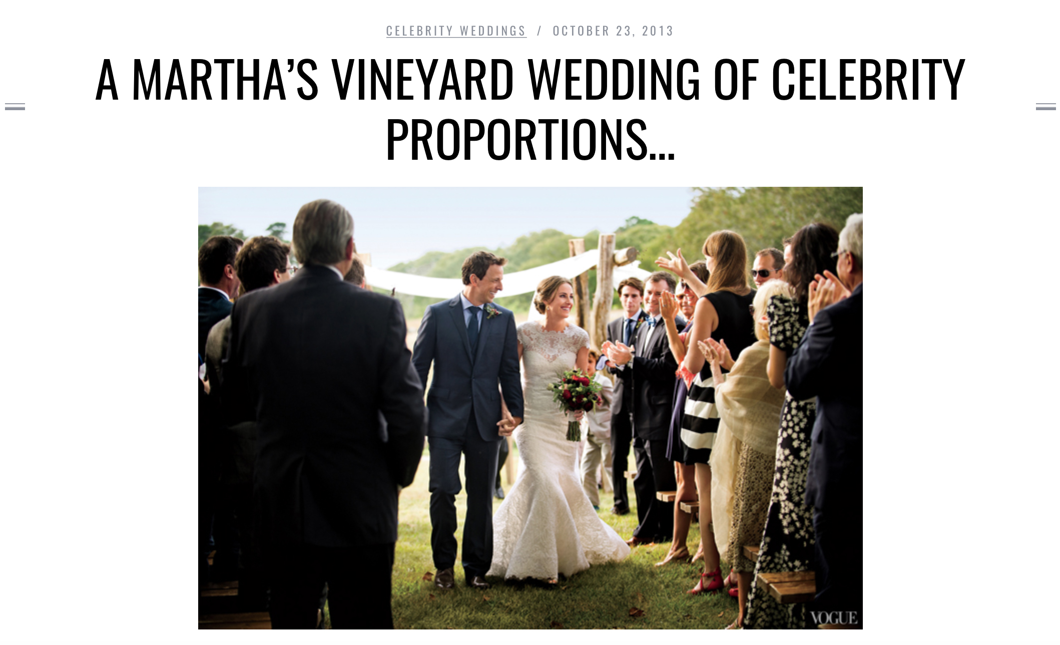 - Southern New England Weddings ran a story featuring our photos of Seth Meyer's wedding to Alexi Ashe. You can find those here.