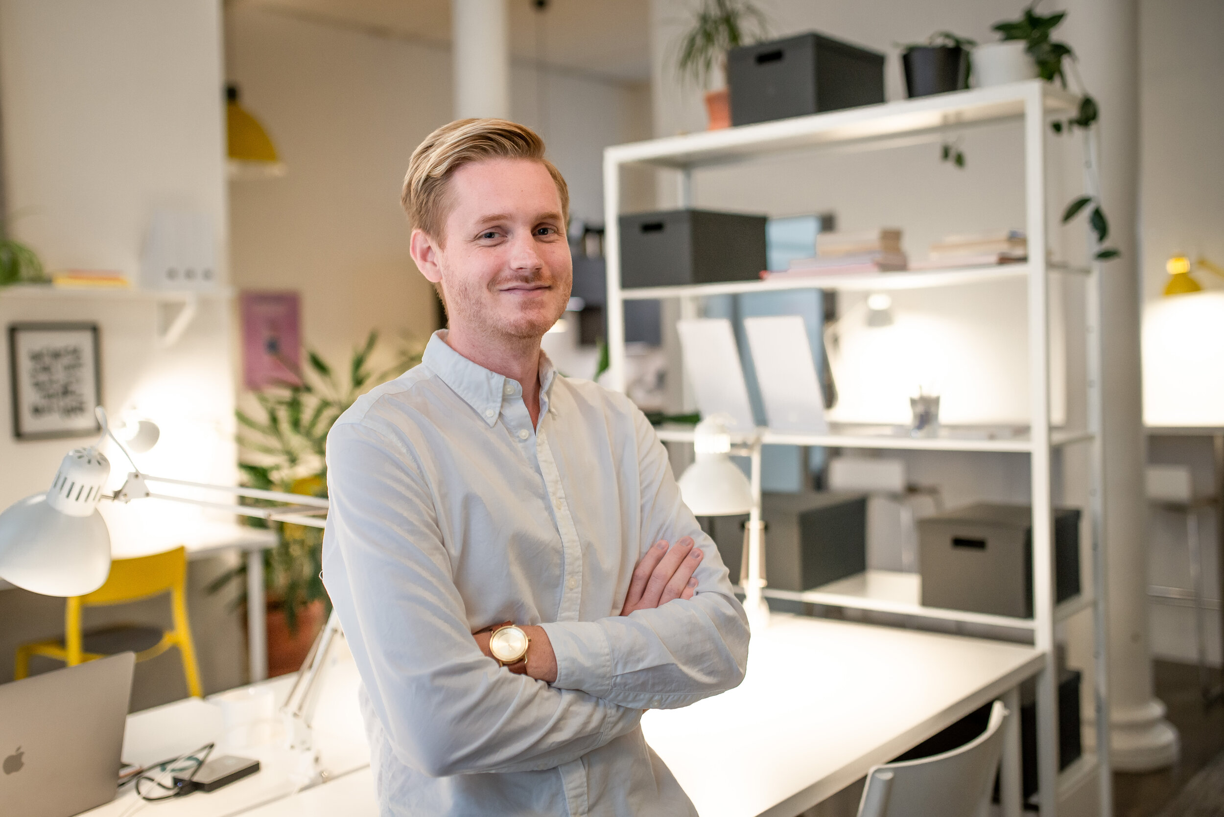 Philip Axelsson is studying content management at Malmö Yrkeshögskola and is doing his internship at Box Space Coworking Malmö.