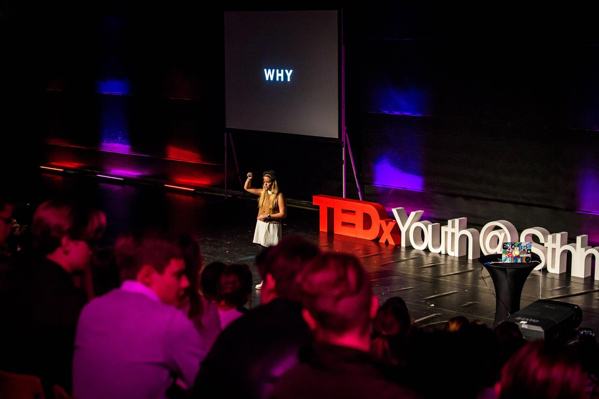 Sophie Lindblom speaking at TEDx (photo credit:August Dellert)