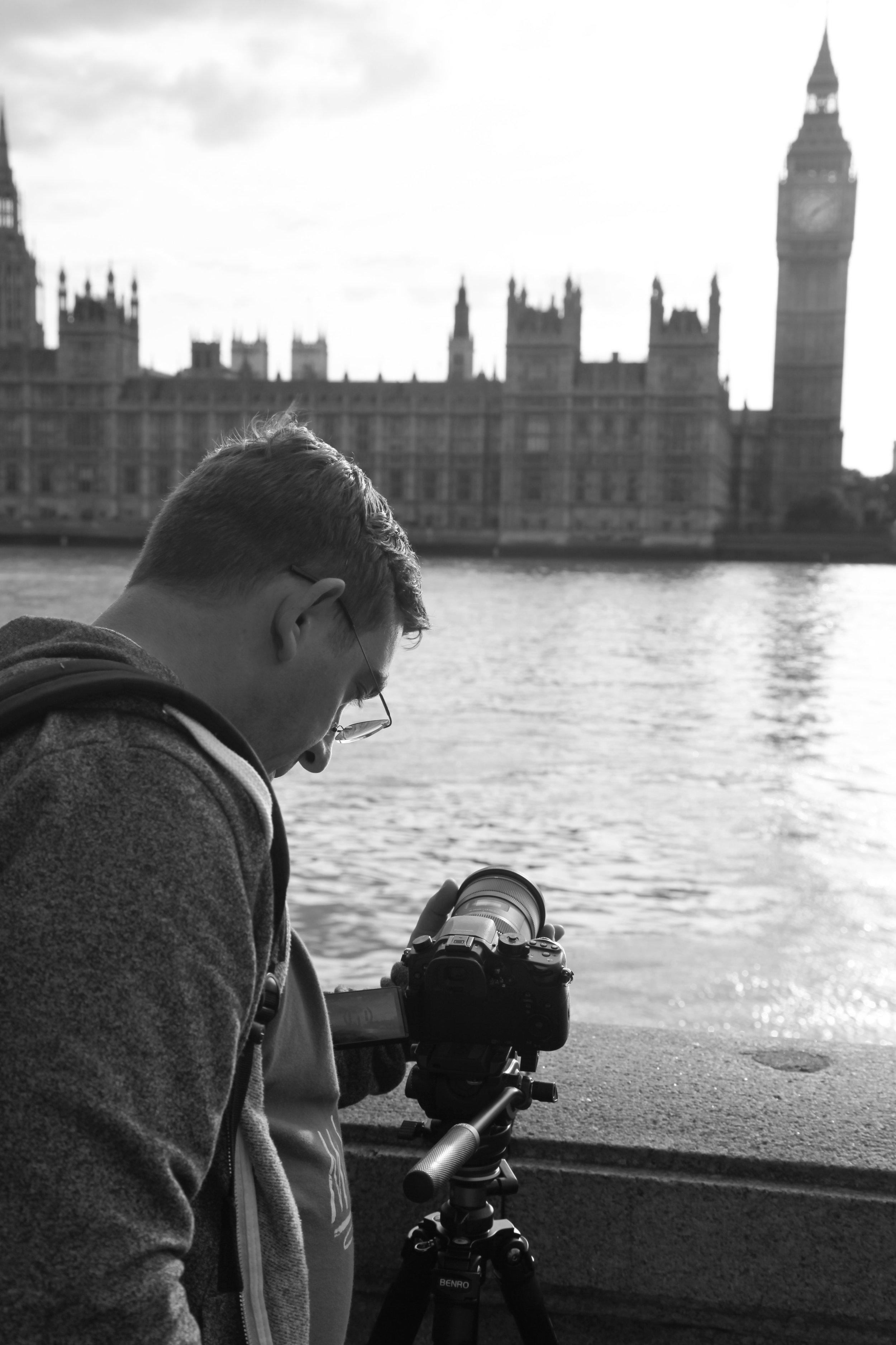 Eric Tesainer shooting a time lapse