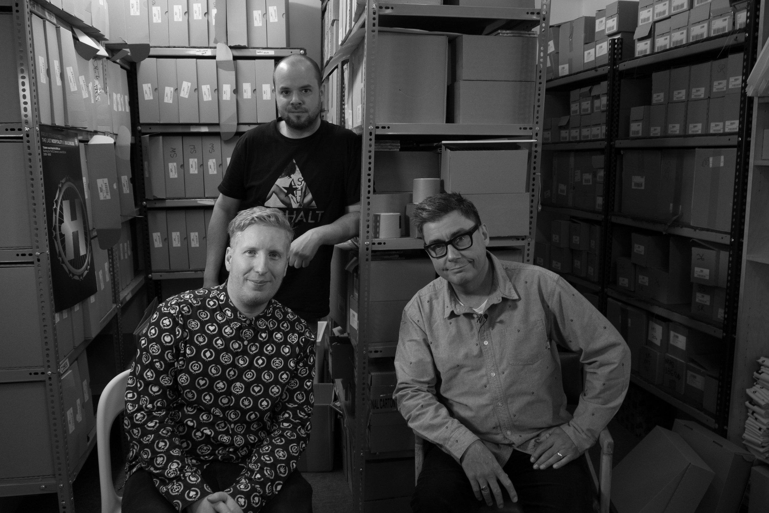 Danny Byrd, Toni Colman and Peter Costigan