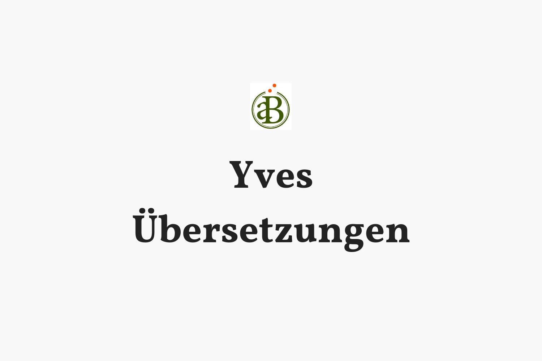 Website und Webdesign - Design und Umsetzung der neuen Website für Yves Übersetzungen - Fachübersetzungen ins Französische.