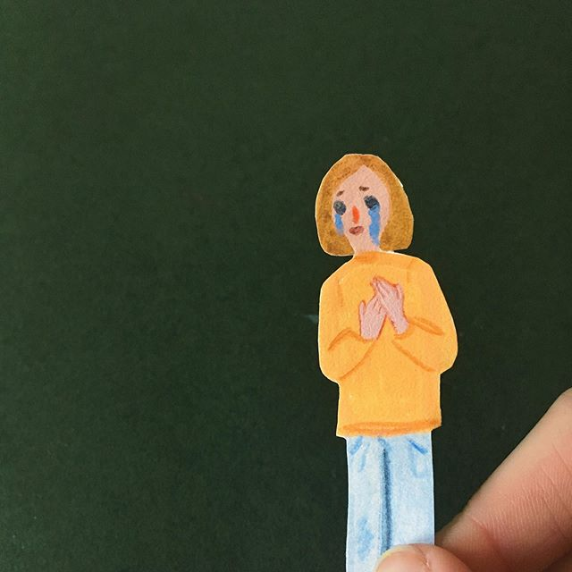 There's no need to cry about it 💧 #illustration #collage #papercut #cutout #paper #art #drawing #cry #tears #figure #oslo #norway