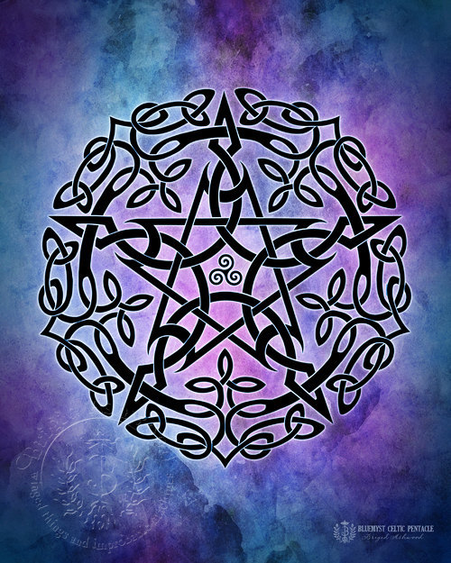 Celtic Pentacle - Blue/Purple