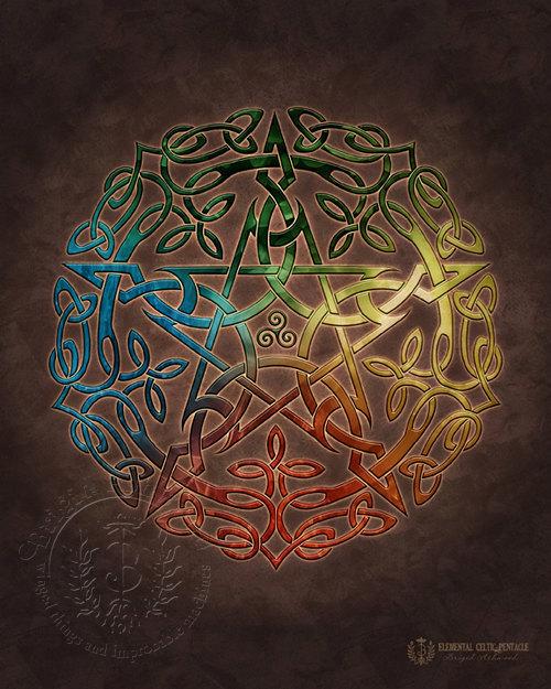 Elemental Celtic Pentacle
