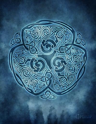 Celtic Wolf Knotwork