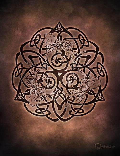 Celtic Horse Knotwork