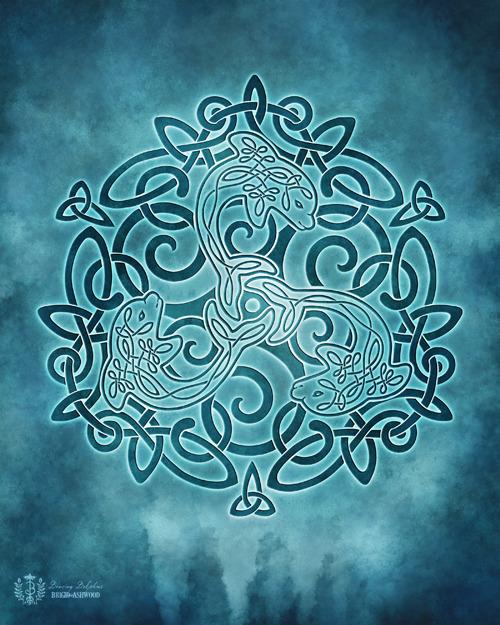 Celtic Dolphins Knotwork