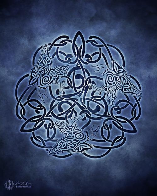Celtic Raven Knotwork