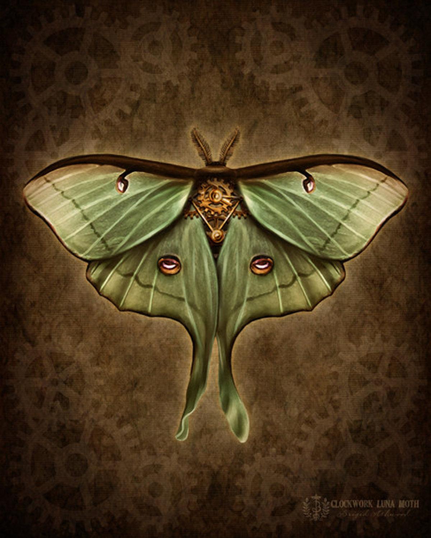 Steampunk Luna Moth
