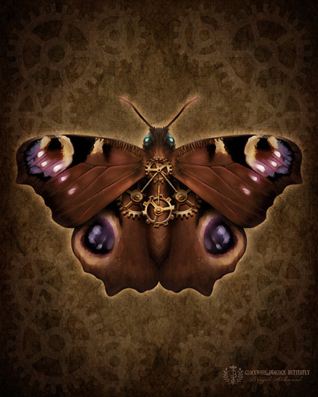 Steampunk Peacock Butterfly