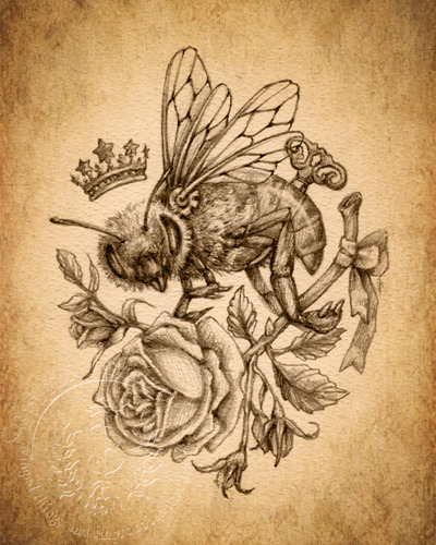 Bee Love - Sepia