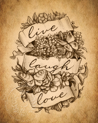 Live Laugh Love - Sepia