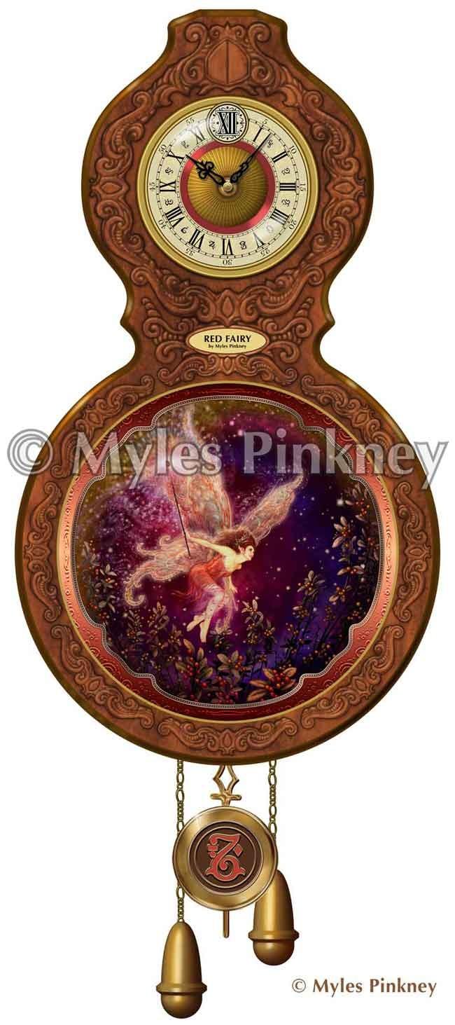 Red Fairy Clock