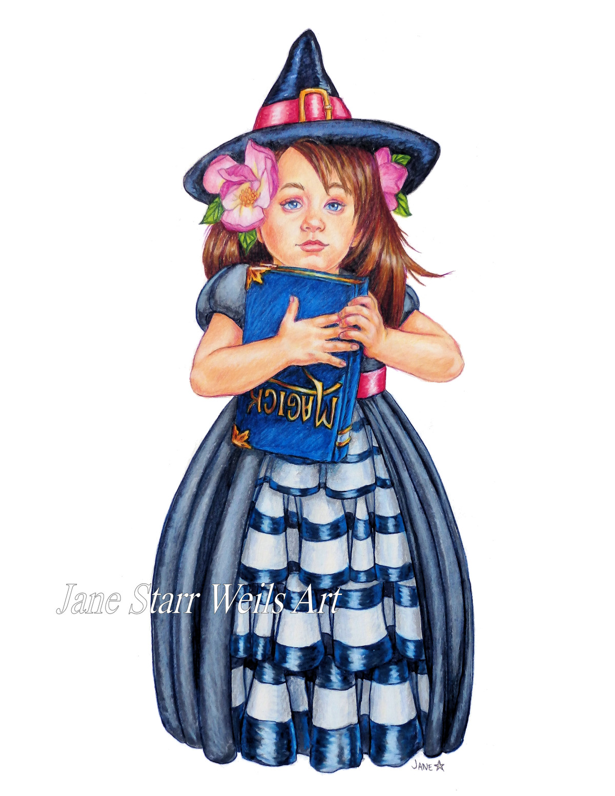 Little Witch with Magick Book