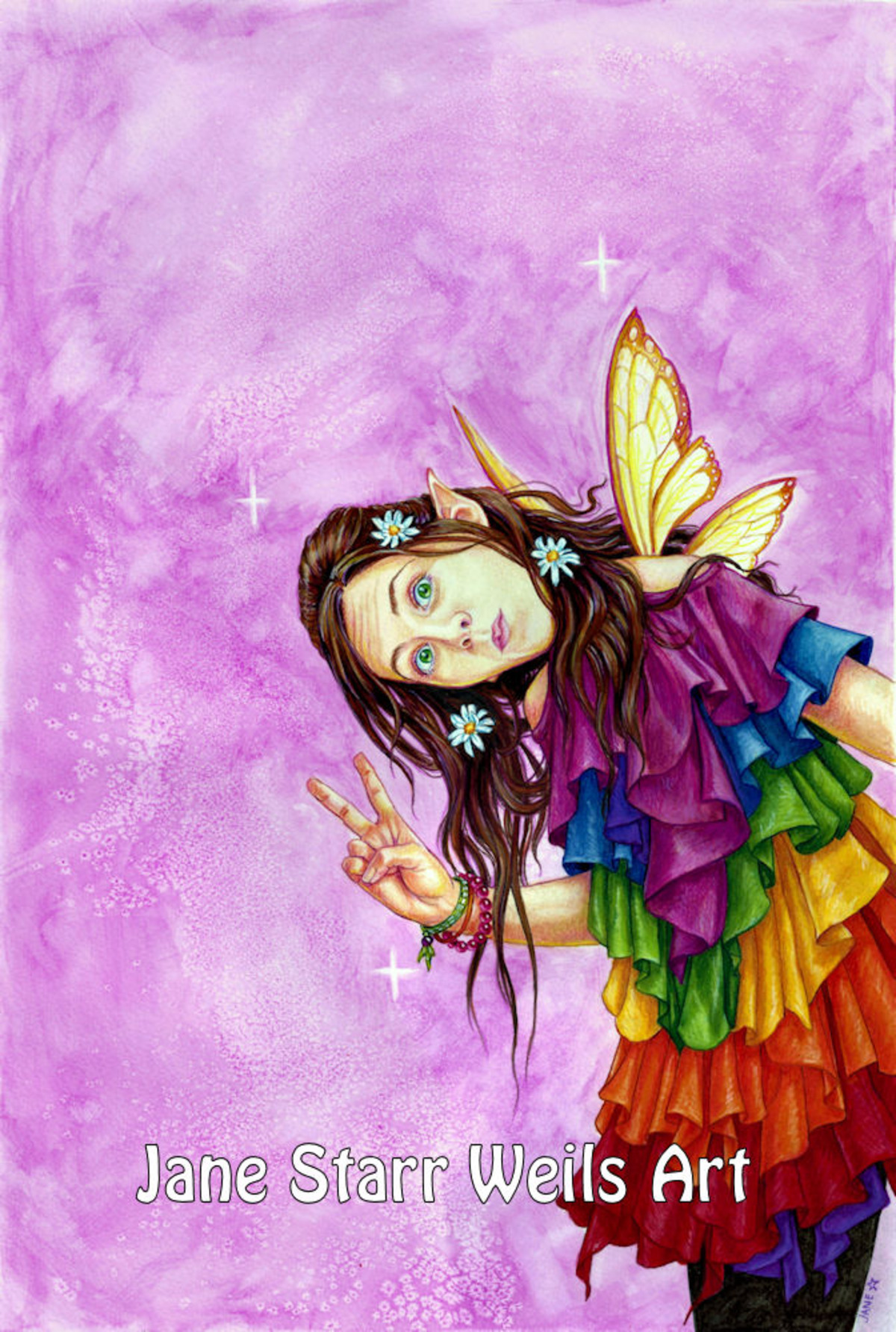 Rainbow Peace Faerie