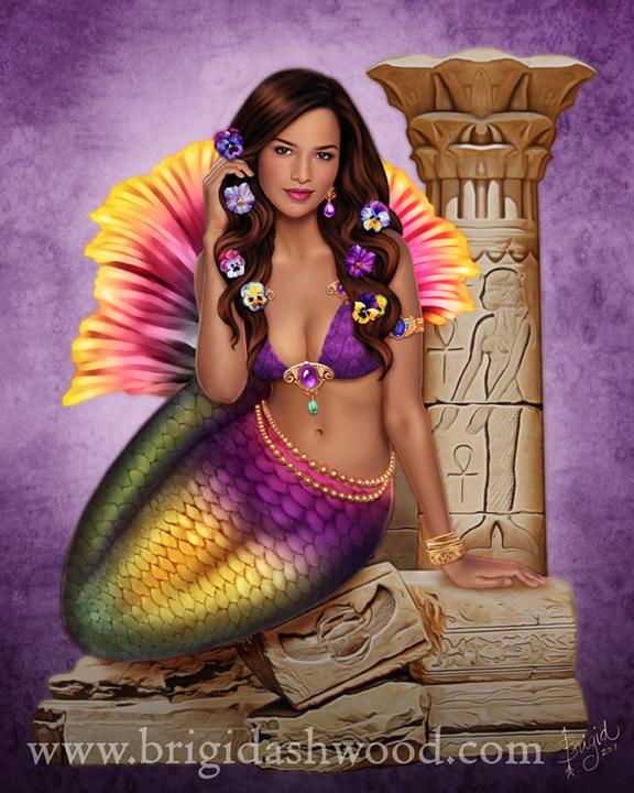 Mermaid Visions: Ancient Ruins