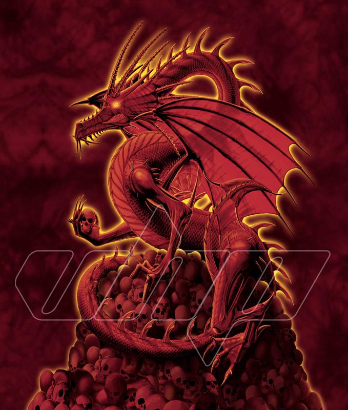 Skull Dragon - Red