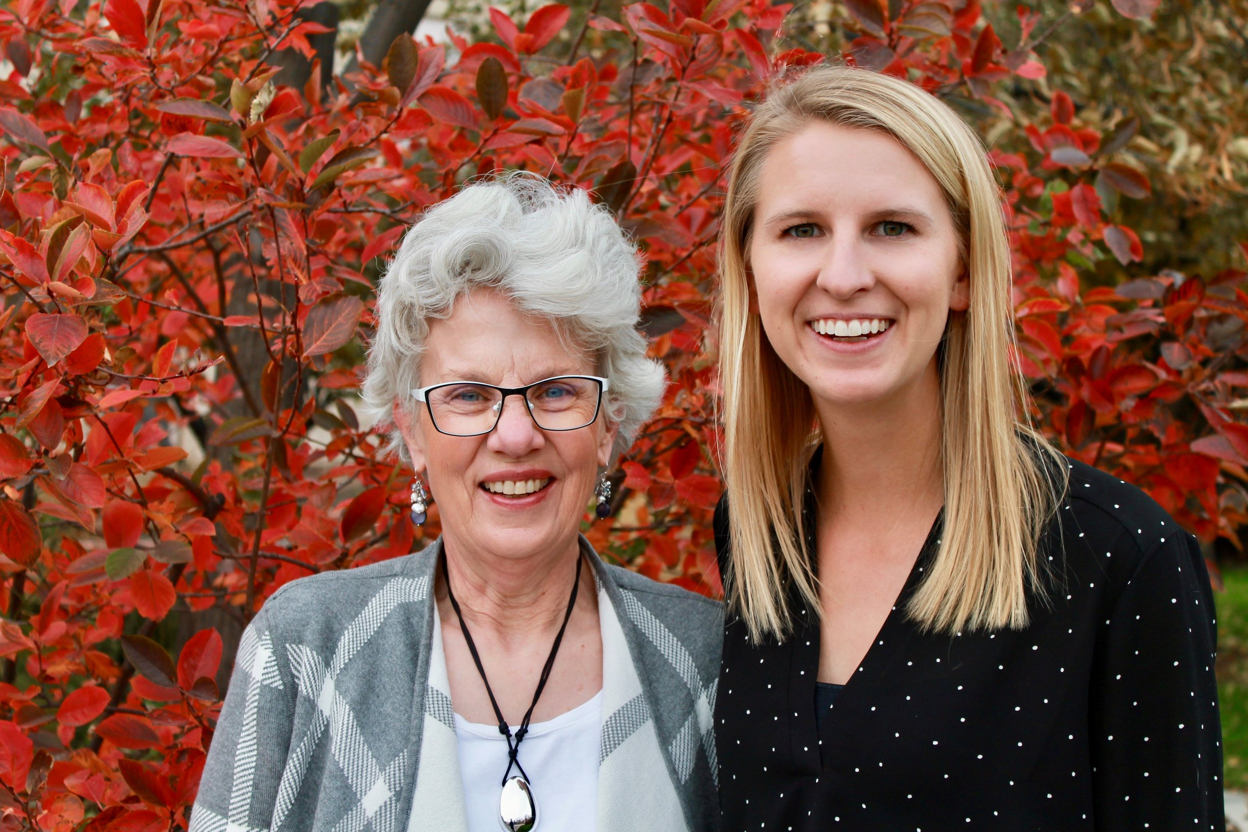 Dr. Wendy Wood (the Co-PI) and Dr. B. Caitlin Peters.