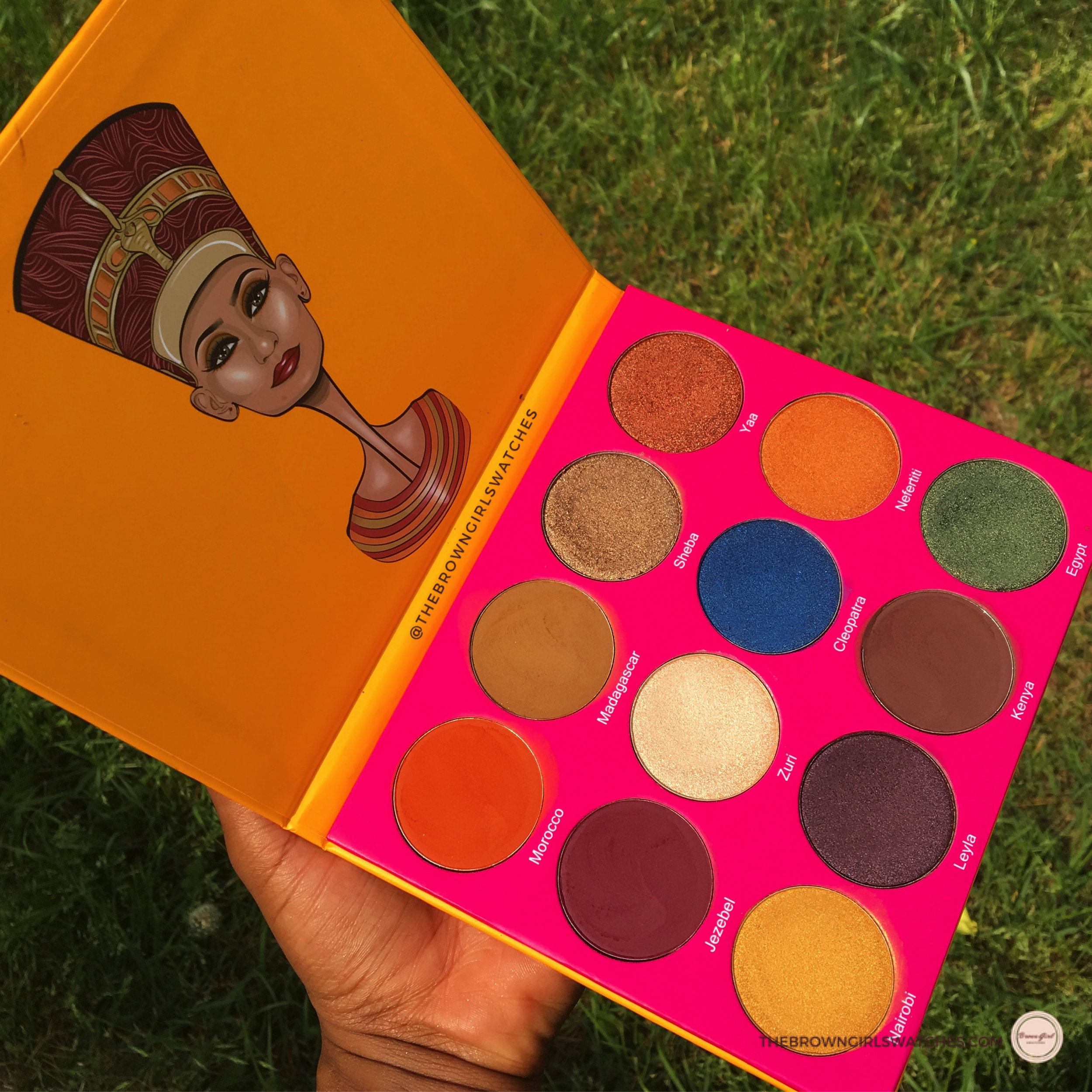 JUVIA'S PLACE NUBIAN 2 PALETTE SWATCHES AND REVIEW ON BROWN SKIN