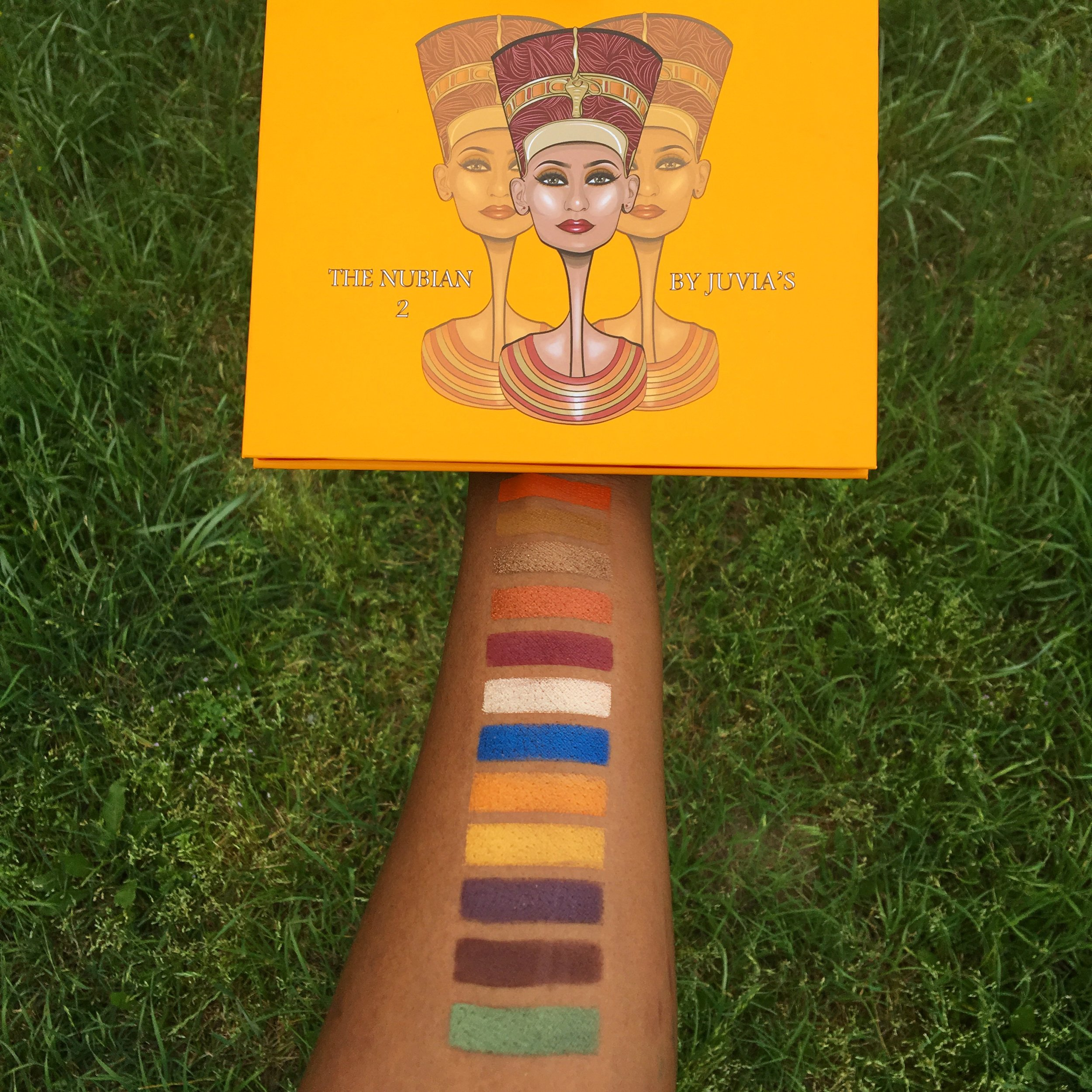 The Beautiful Shades in the Nubian 2 Palette