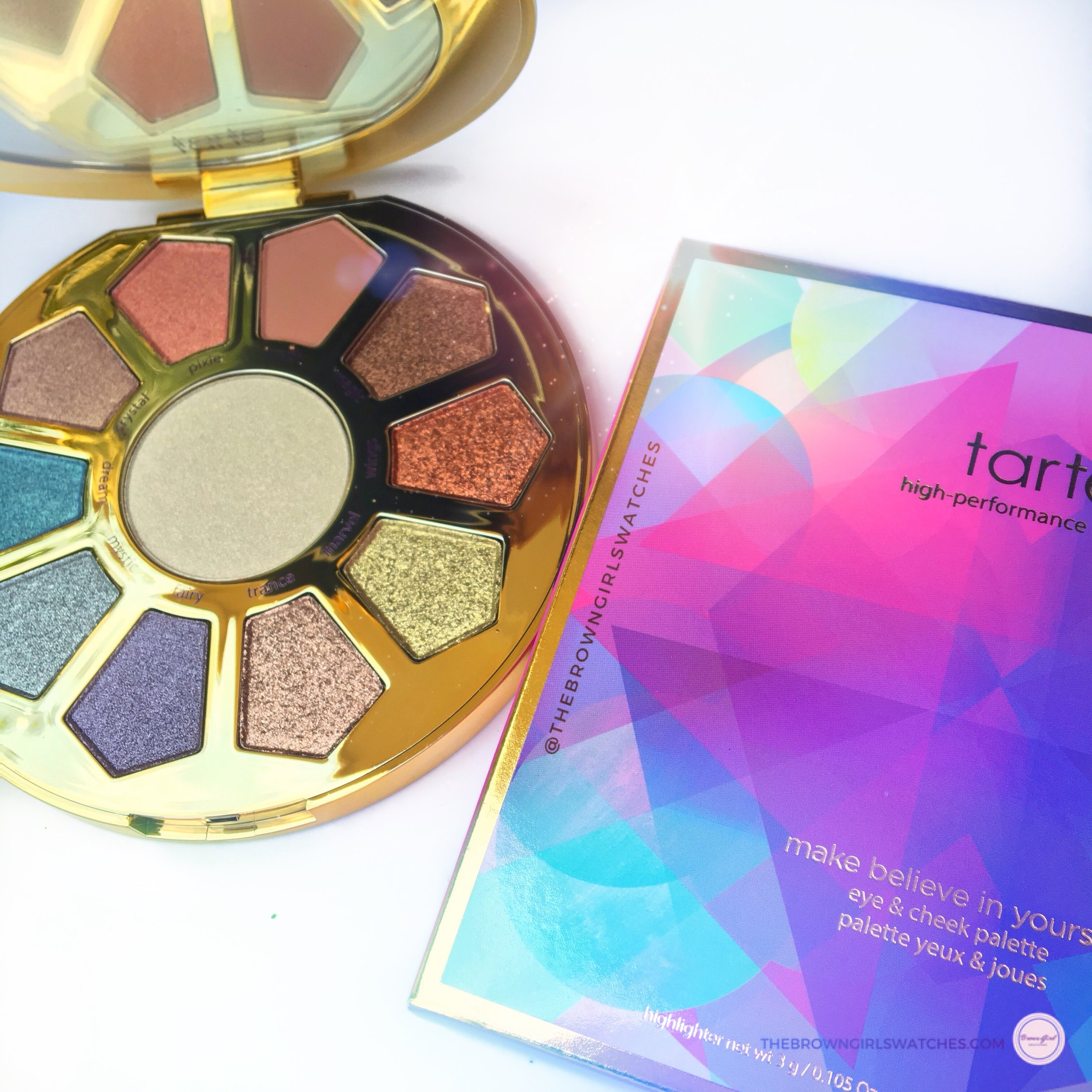 TARTE COSMETICS MAKE BELIEVE IN YOURSELF PALETTE AND PACKAGING