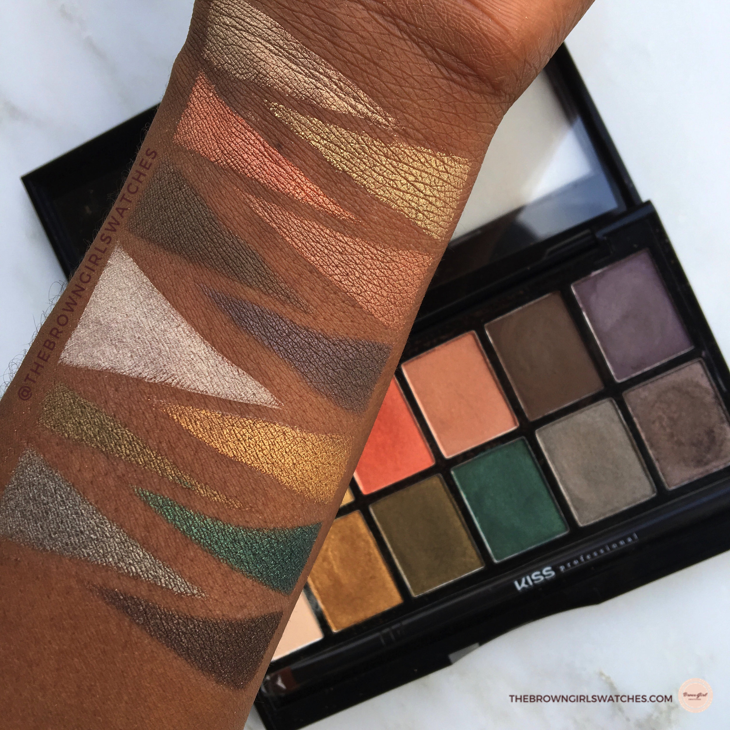 Swatches on Brown Skin