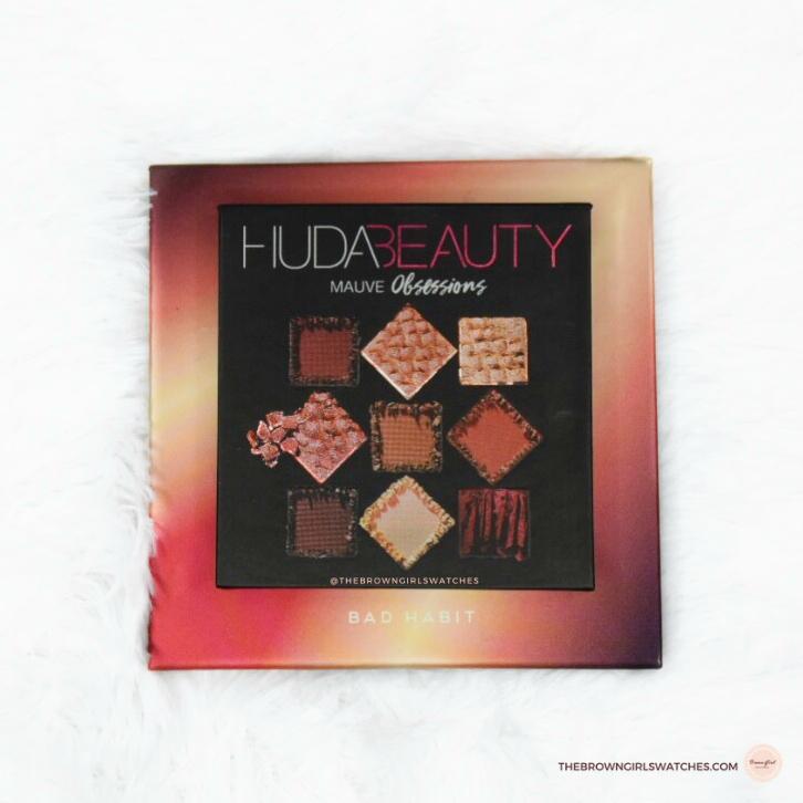 Huda Beauty Mauve Obsessions Size vs Bad Habit Beauty After Hours Size