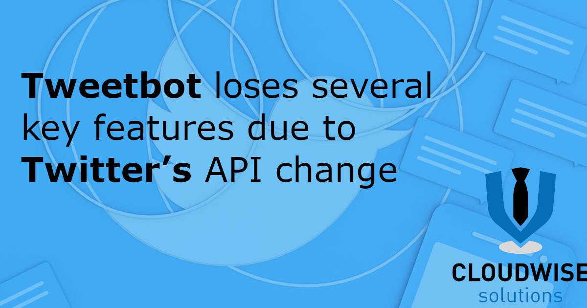 """Tweetbot loses several key features due to Twitter's API change. - Twitter's API changes are here. Tapbots released an update yesterday to Tweetbot for iOS that loses many of the Twitter client's most popular or essential features. It also removed its Apple Watch app. In Tweetbot's App Store release notes, Tapbots explained """"on August 16th Twitter will disable parts of their public interface that we use in Tweetbot. Because Twitter has chosen not to provide alternatives to these interfaces we have been forced to disable or degrade certain features. We are sorry about this, but unfortunately this is totally out of our control."""""""