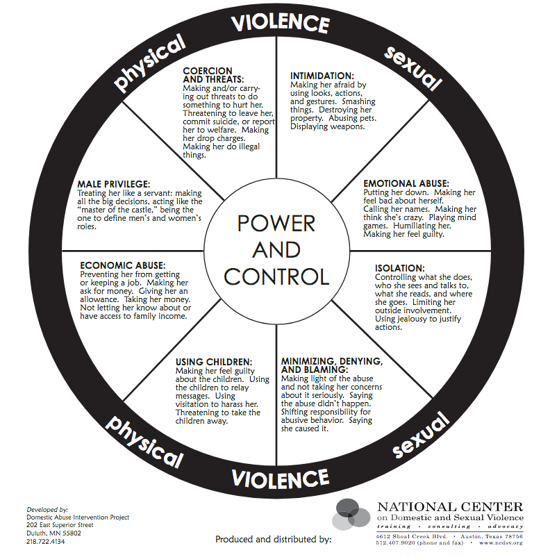 Image from the National Center for Domestic and Sexual violence www.ncdsv.org