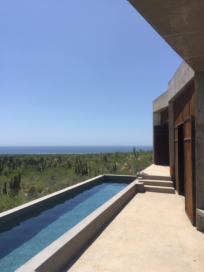 Taller de Terreno's private pool with panoramic views
