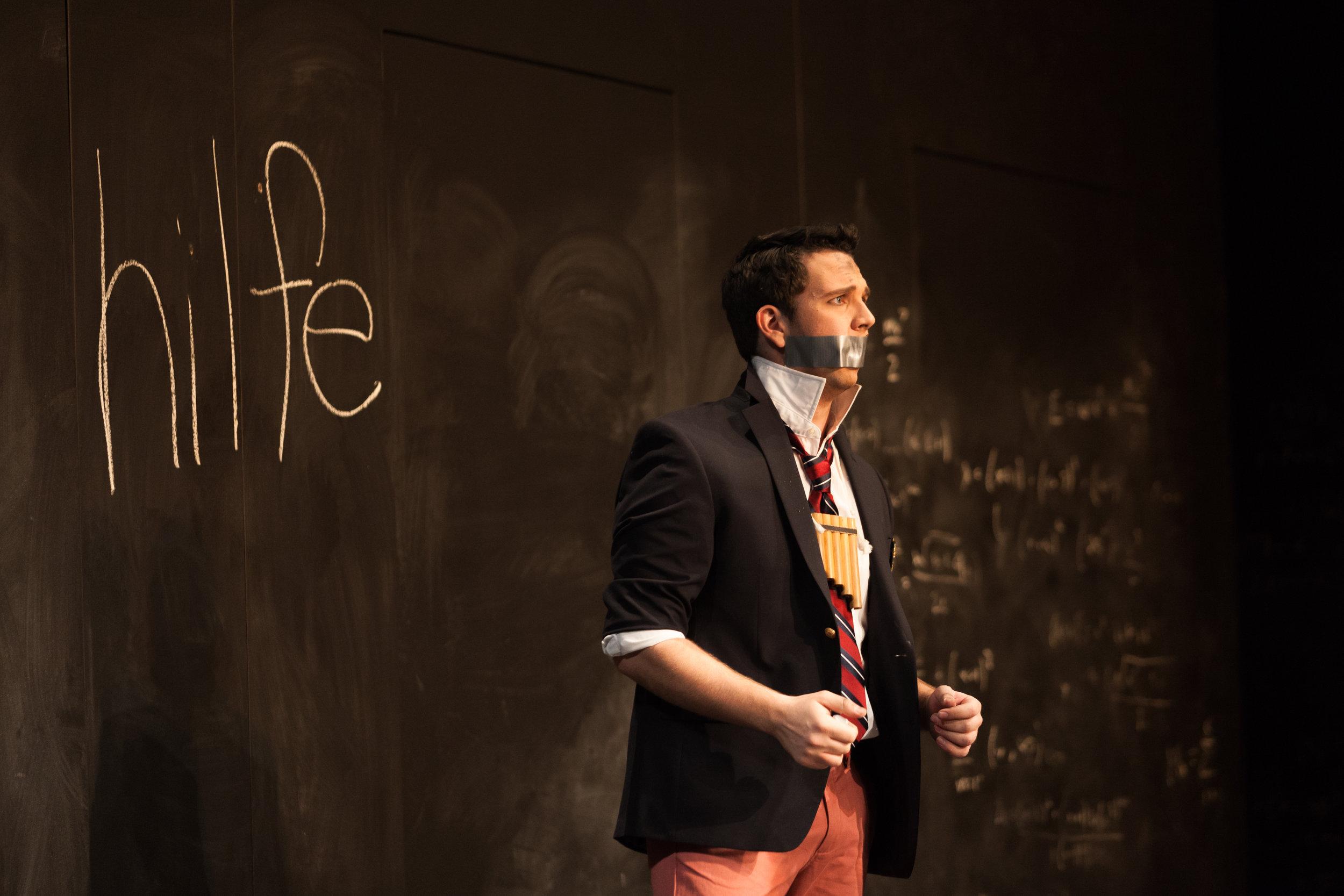 Curtis Opera Theatre: Papageno in Die Zauberflöte  Director:Chas Rader-Shieber  Conductor:Vinay Parameswaran  Photo: Karli Cadel
