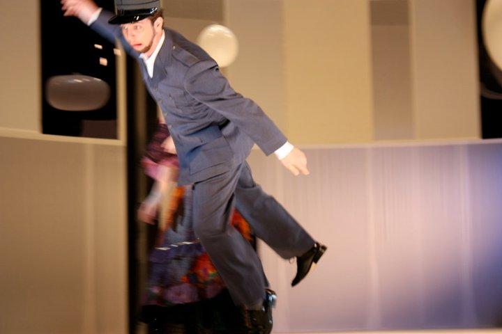 Curtis Opera Theatre: Le gendarme in Le mamelles de Thérèse  Director: Ned Canty  Conductor: David Hayes  Photo: Anna Davidson