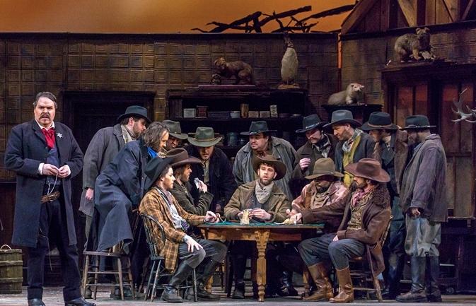 Michigan Opera Theatre: Sid in La Fanciulla del West   Director: Mario Corradi  Conductor: Stephen Lord  Photo: John Grigaitis