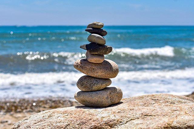 """Some quote about B.A.L.A.N.C.E.""🐙 #travel #travelphotography #rocks #balance #rockbalance #rockandroll #beach #rhodeisland #rhodeisland_igers #waves #beach #sand"