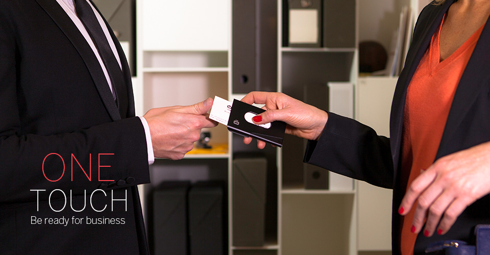 One Touch Business Card Holder - Uses