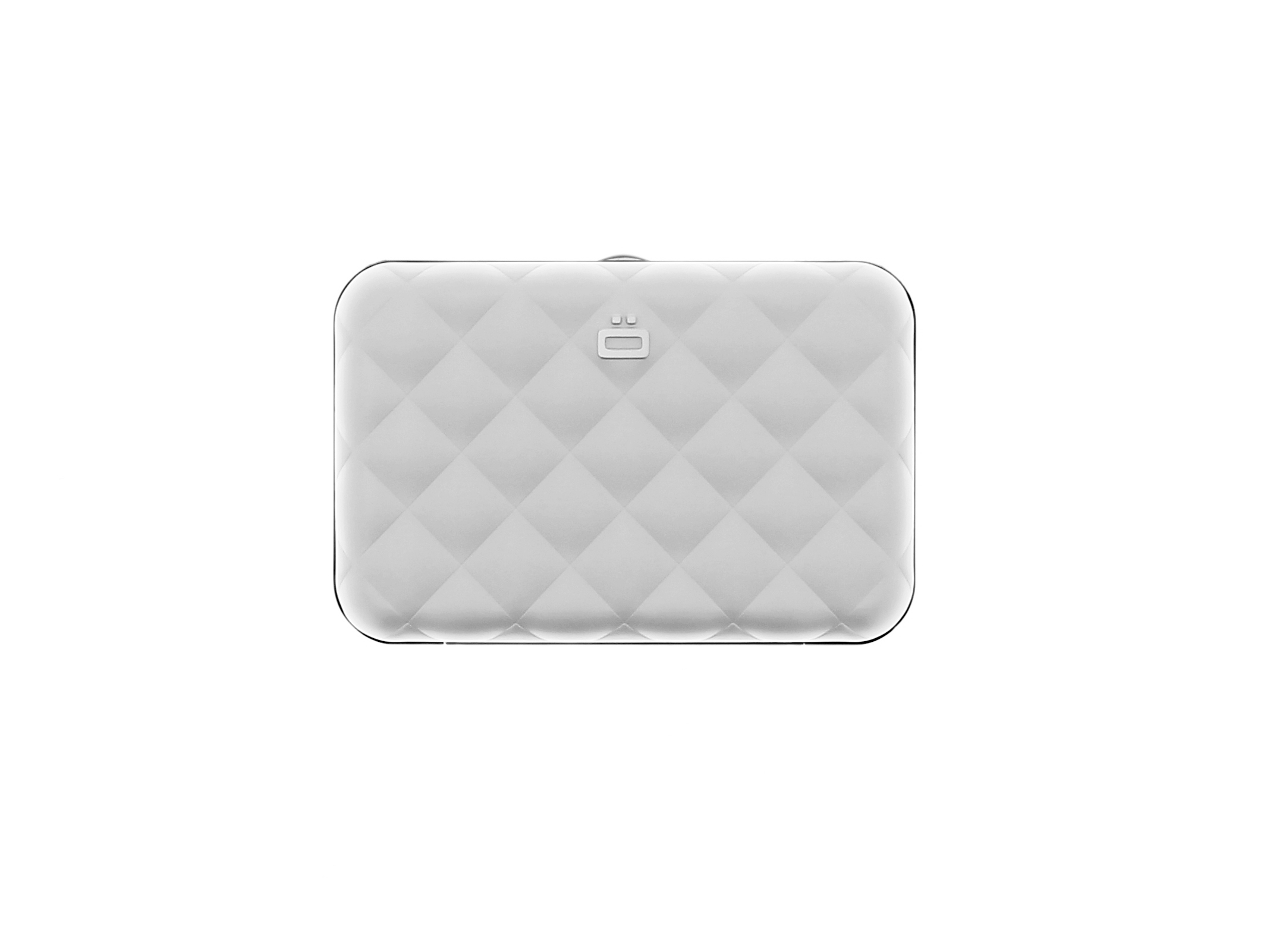 Quilted Button - Silver