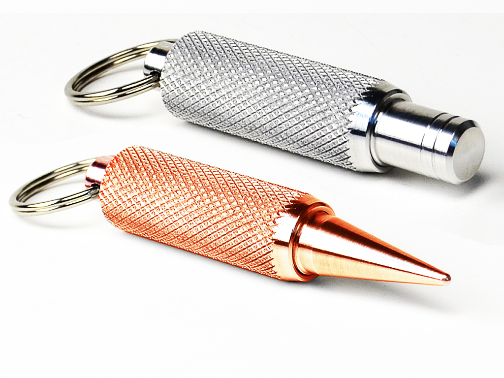 K-SPike   Machine made everyday Pocket Spike Tool. Aluminum or Copper case with Stainless spike.