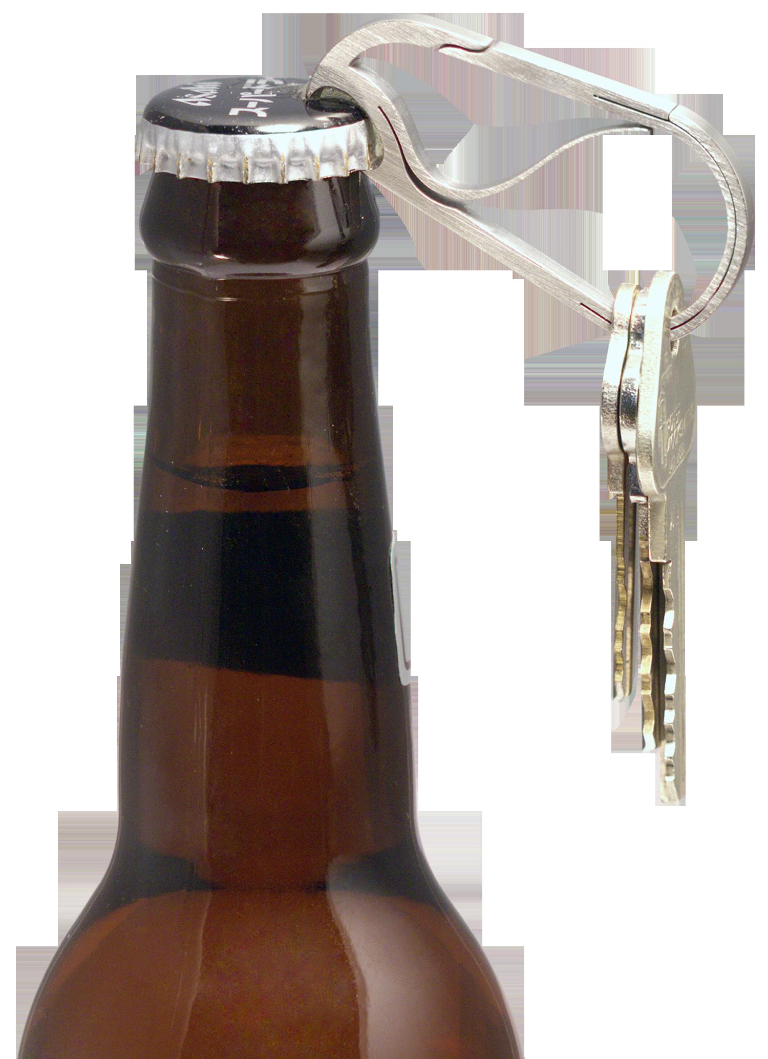 Bico KeyKlipz Bottle Opener Carabiner - Titanium