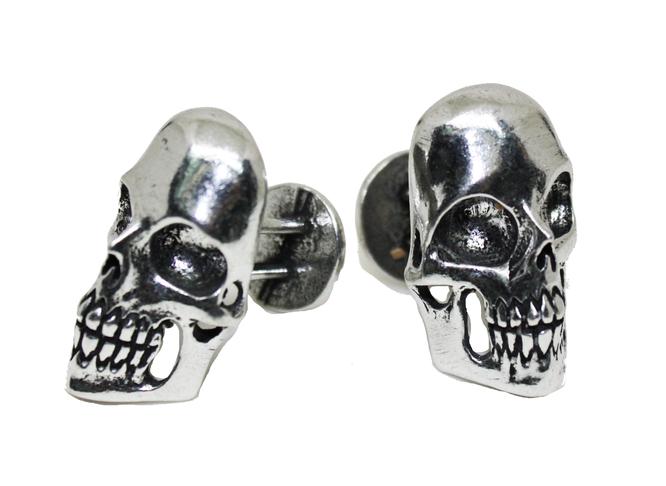 Business Skull Cuff links - pewter