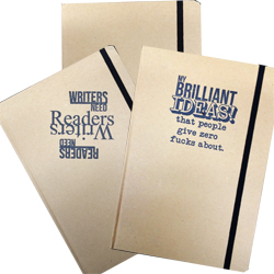 Hard Cover Recycled material notebooks with stamp or blank